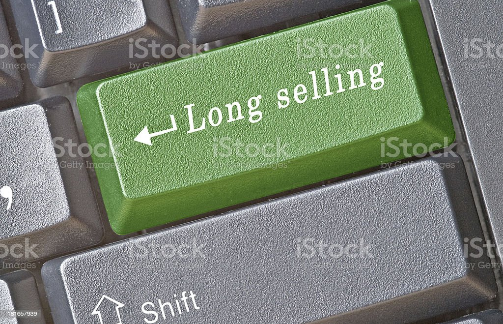 Hot key for long selling royalty-free stock photo