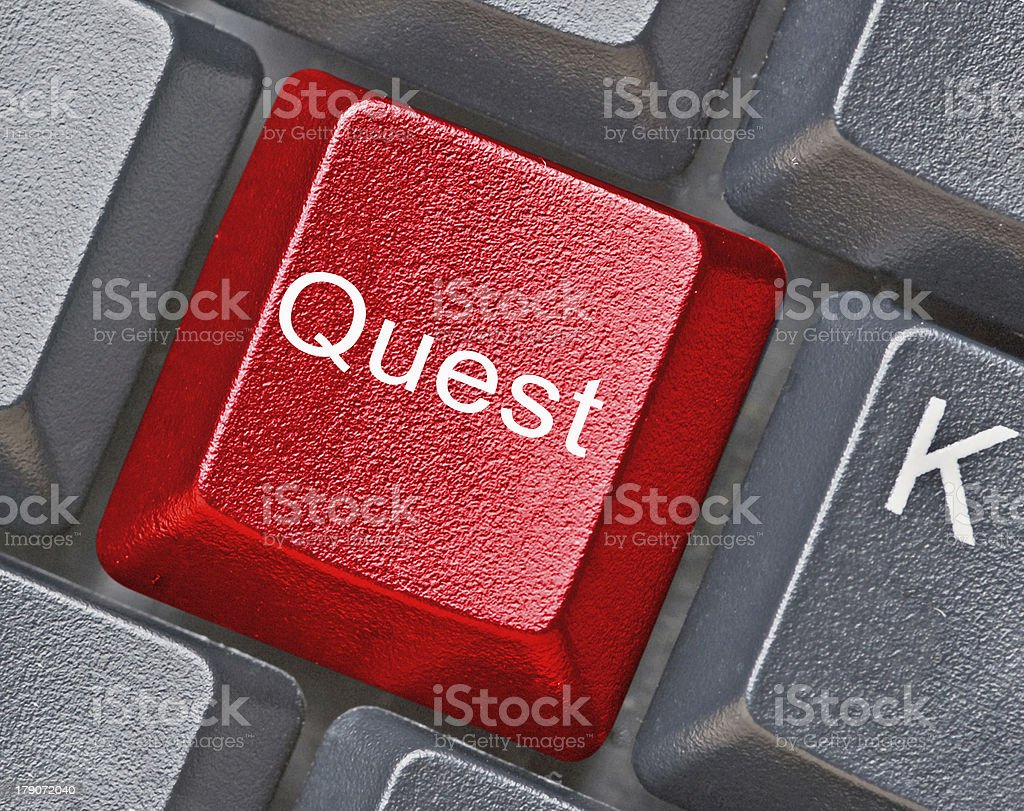 Hot key for quest royalty-free stock photo