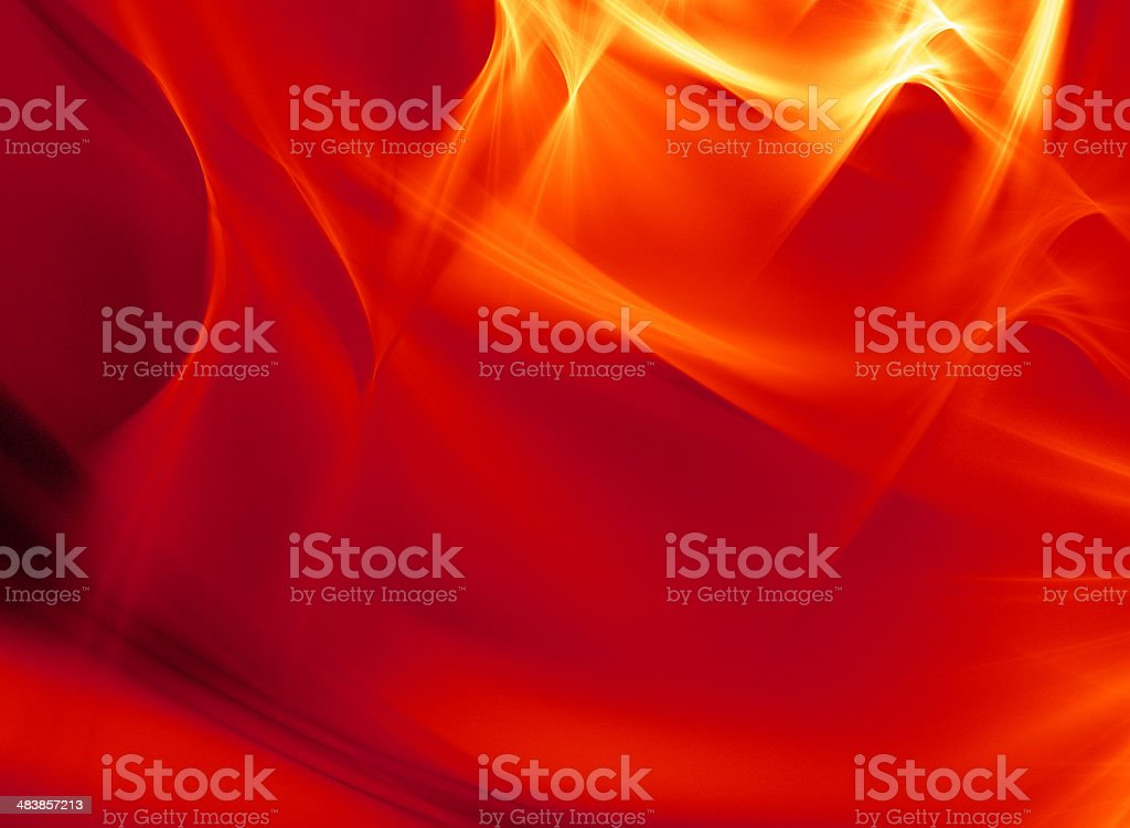 Hot Land 's Bloody Sky stock photo