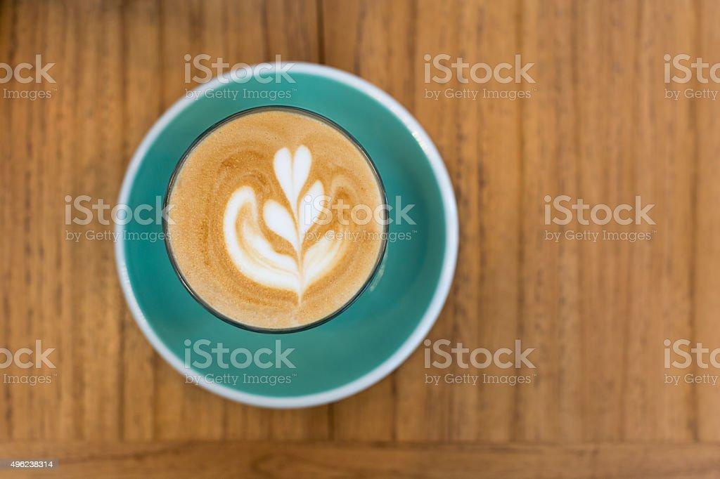 Hot latte coffee stock photo