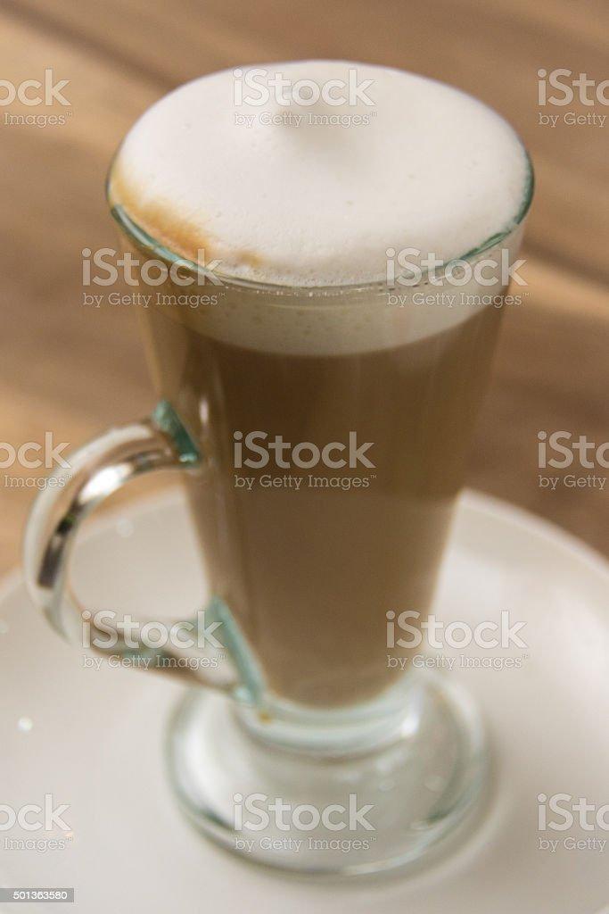 Hot latte. stock photo