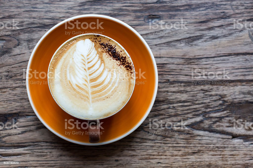 Hot latte stock photo