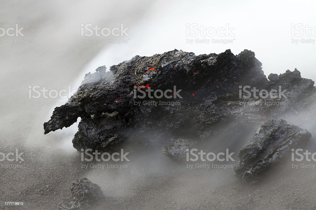 Hot lava royalty-free stock photo