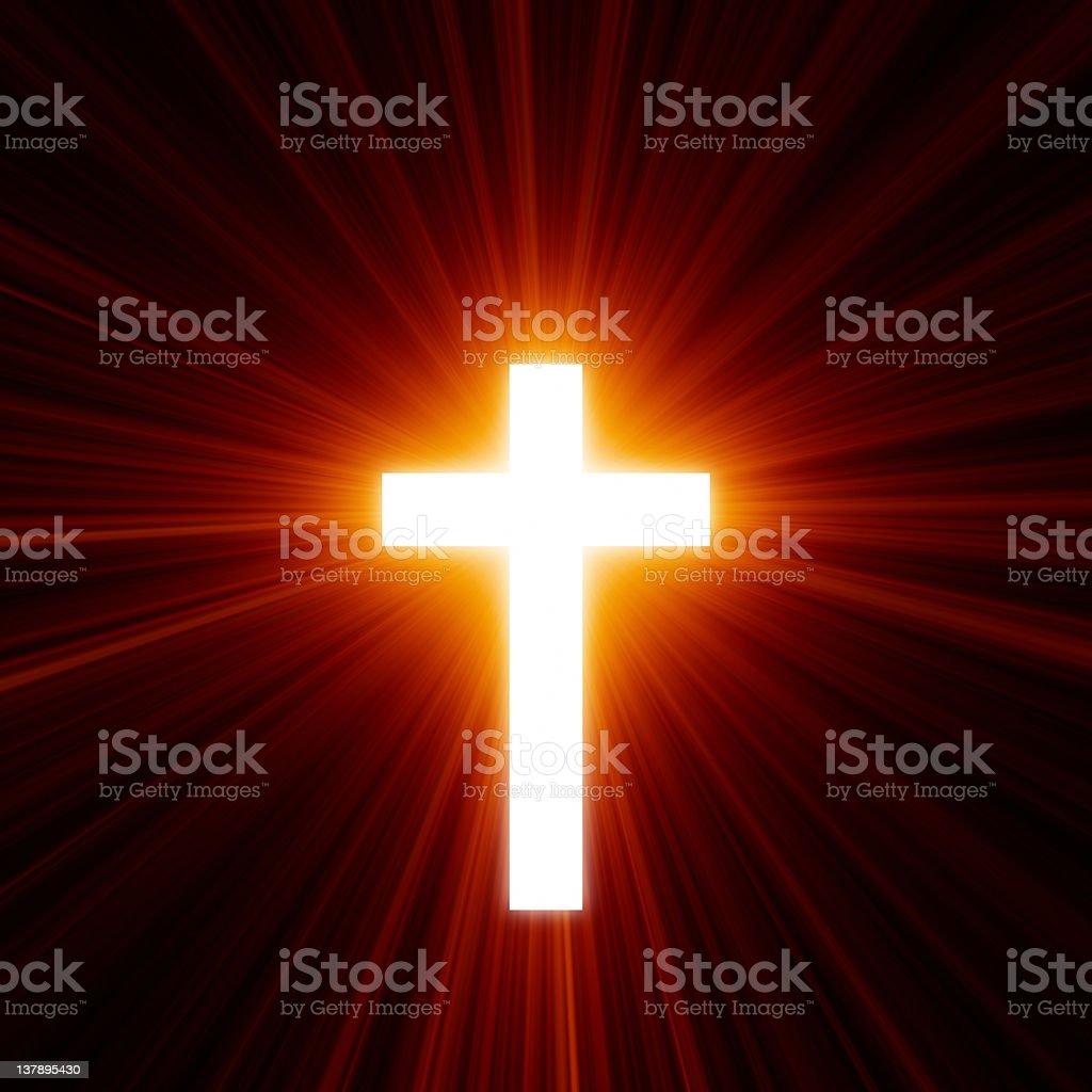 Hot Light Of The Cross stock photo