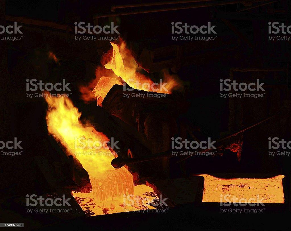 Hot liquid metal royalty-free stock photo