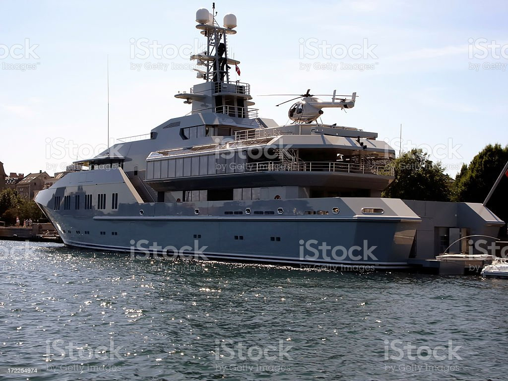 hot luxury yacht royalty-free stock photo