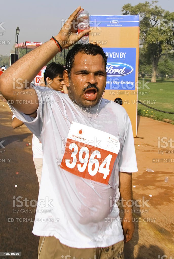 Hot marathon  runner royalty-free stock photo