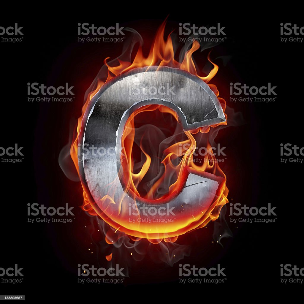 Hot metal letter royalty-free stock photo