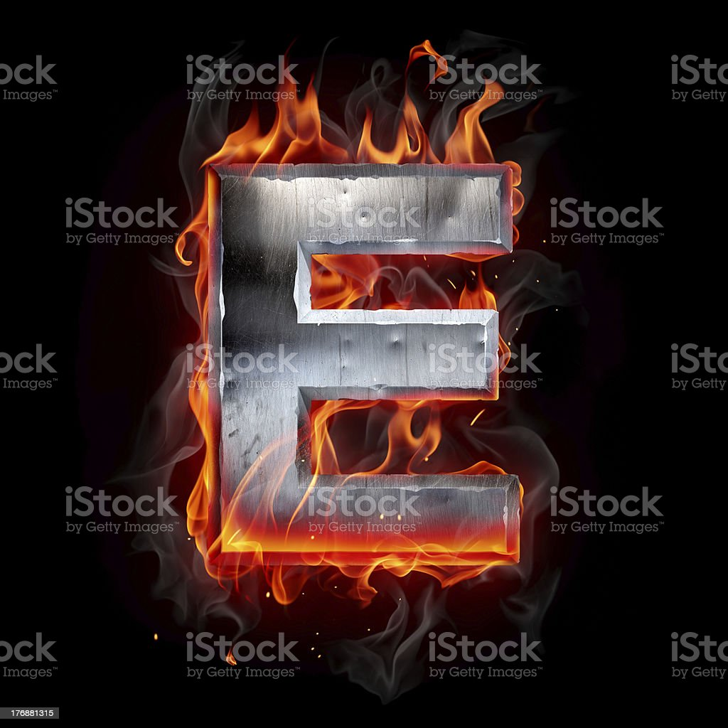 Hot metal letter stock photo