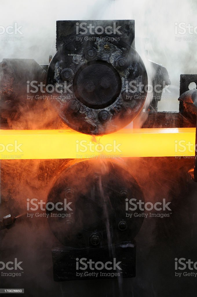 Hot Metal stock photo