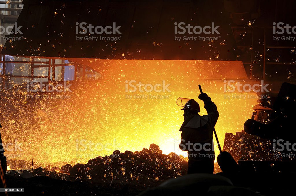 Hot metal royalty-free stock photo