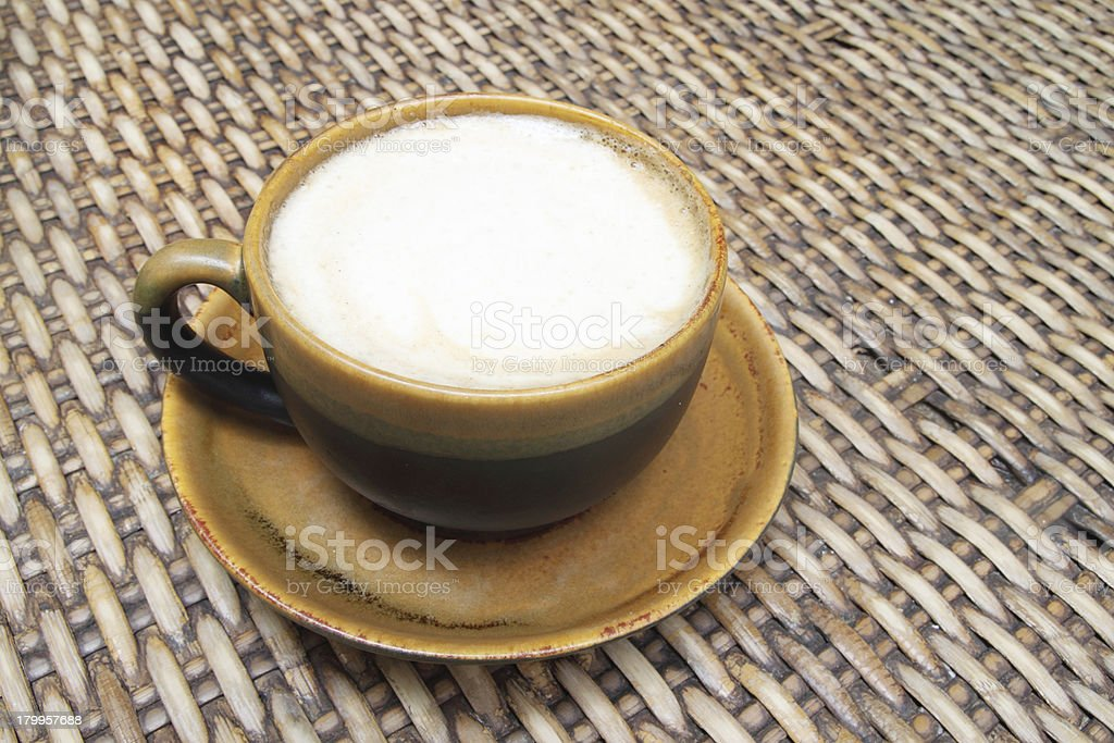 hot milk coffee royalty-free stock photo
