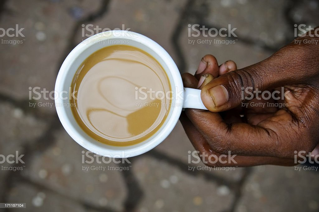Hot milk tea royalty-free stock photo