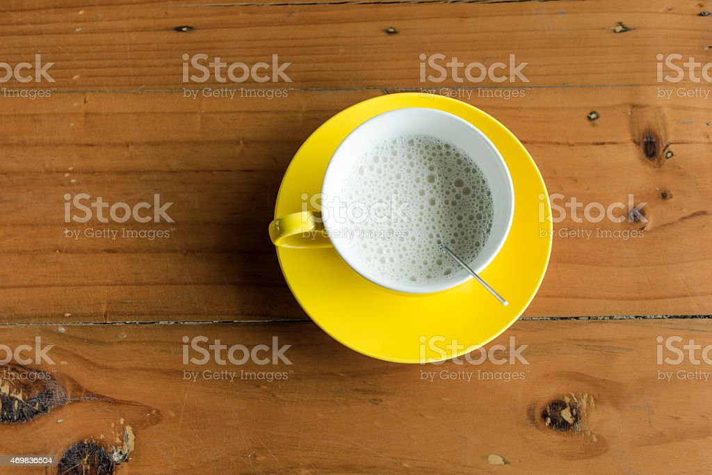Hot milks on the wood table royalty-free stock photo
