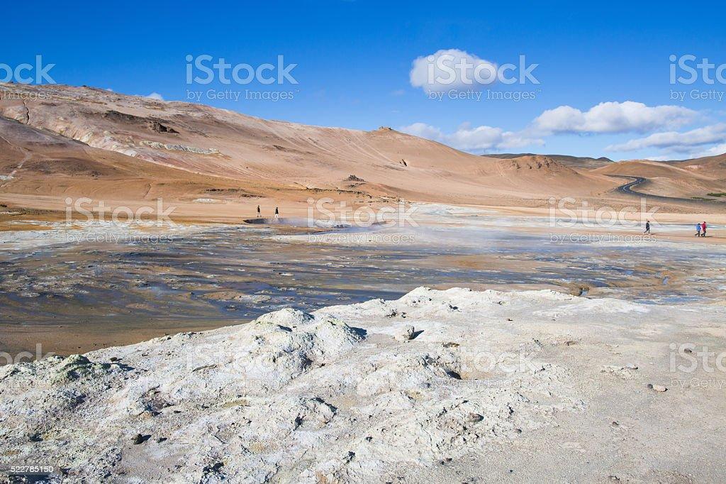 Hot Mud Pots stock photo