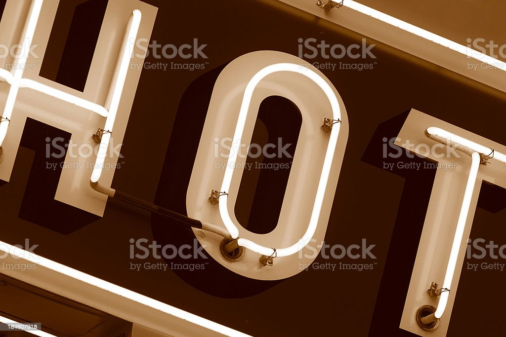 Hot Neon Sign Closeup royalty-free stock photo
