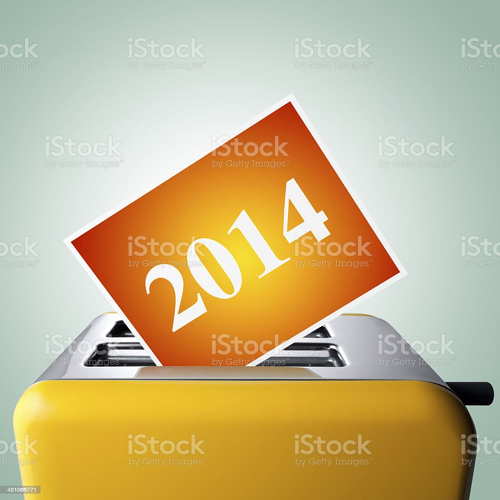 2014. Hot new year. royalty-free stock photo