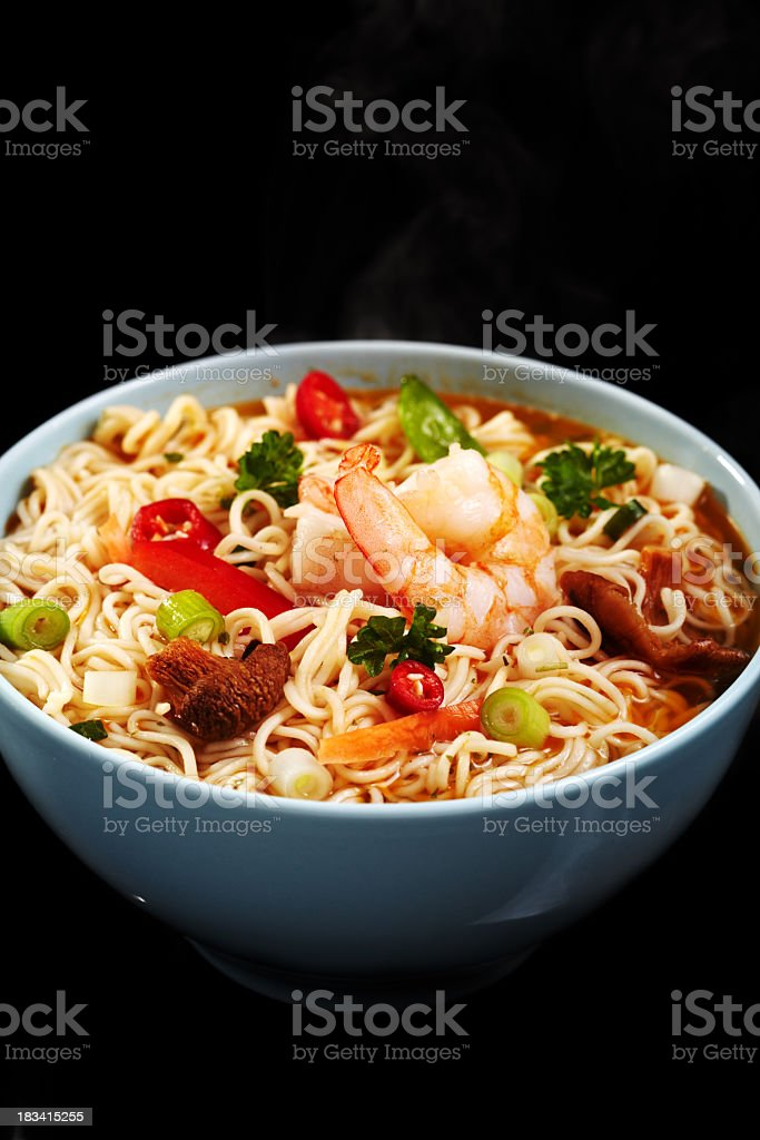 Hot Noodle Soup royalty-free stock photo