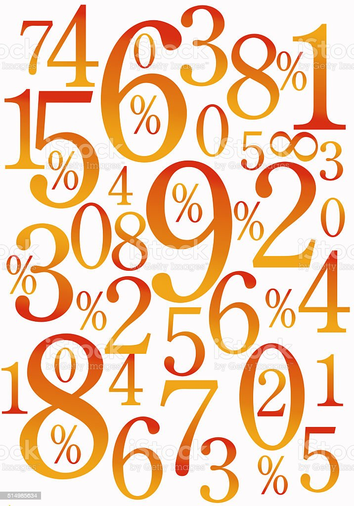 Hot Numbers background stock photo