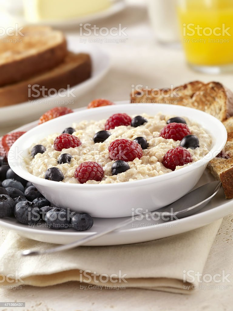 Hot Oatmeal stock photo