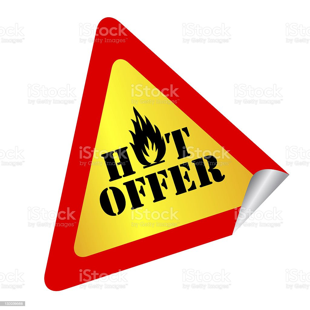 Hot offer royalty-free stock photo
