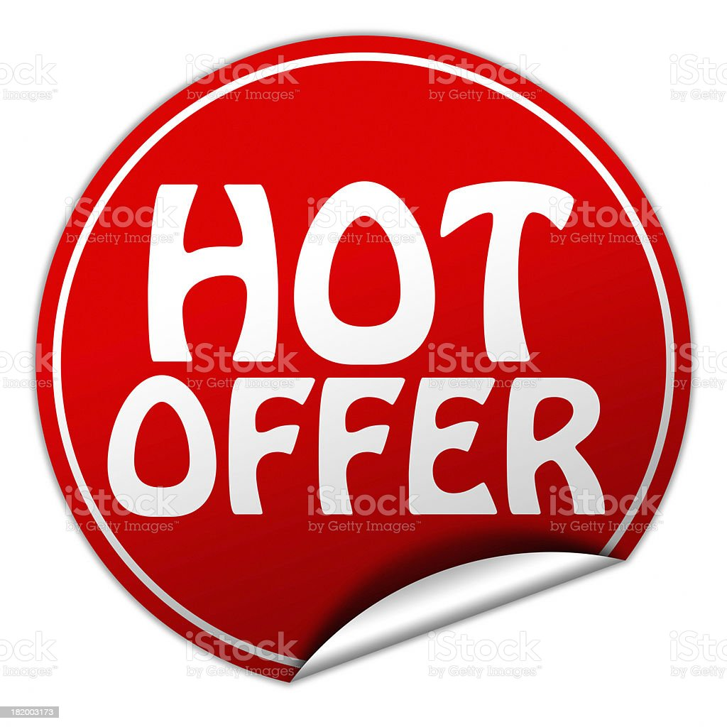 hot offer sticker royalty-free stock photo