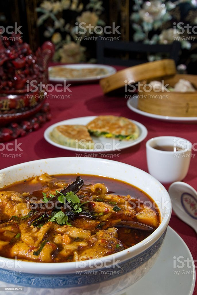 Hot oil soup royalty-free stock photo