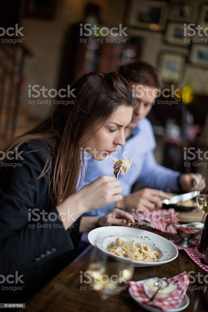 Hot pasta stock photo