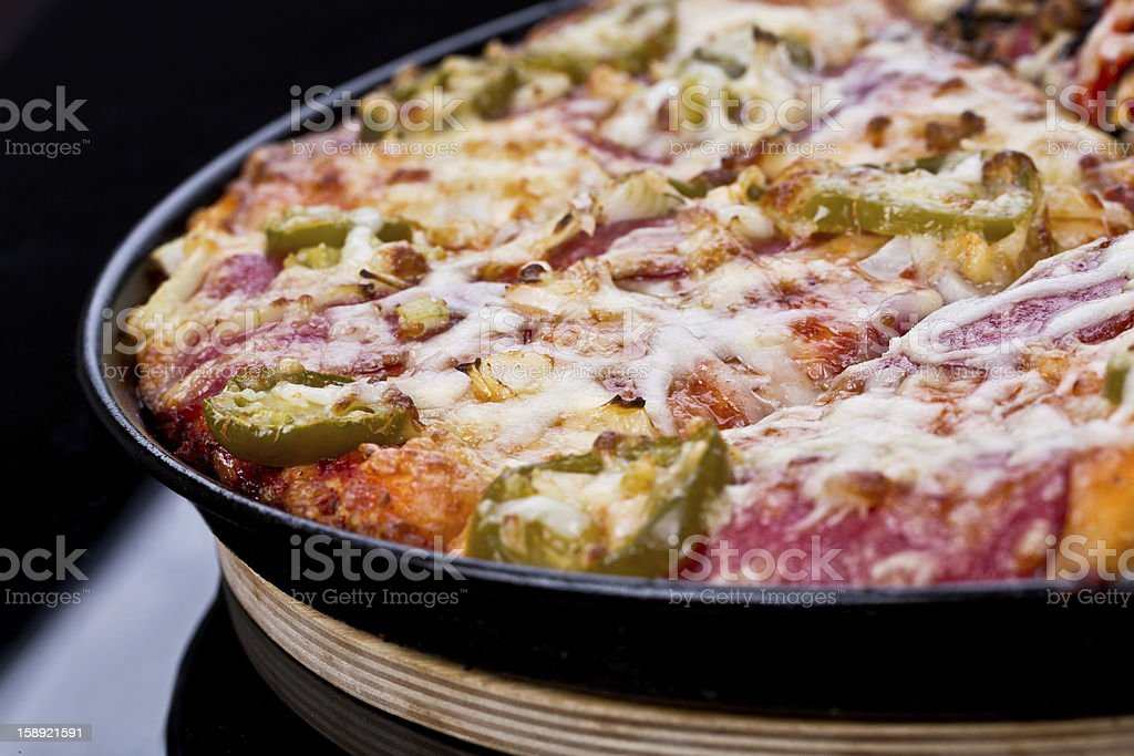 hot pepperoni pizza royalty-free stock photo