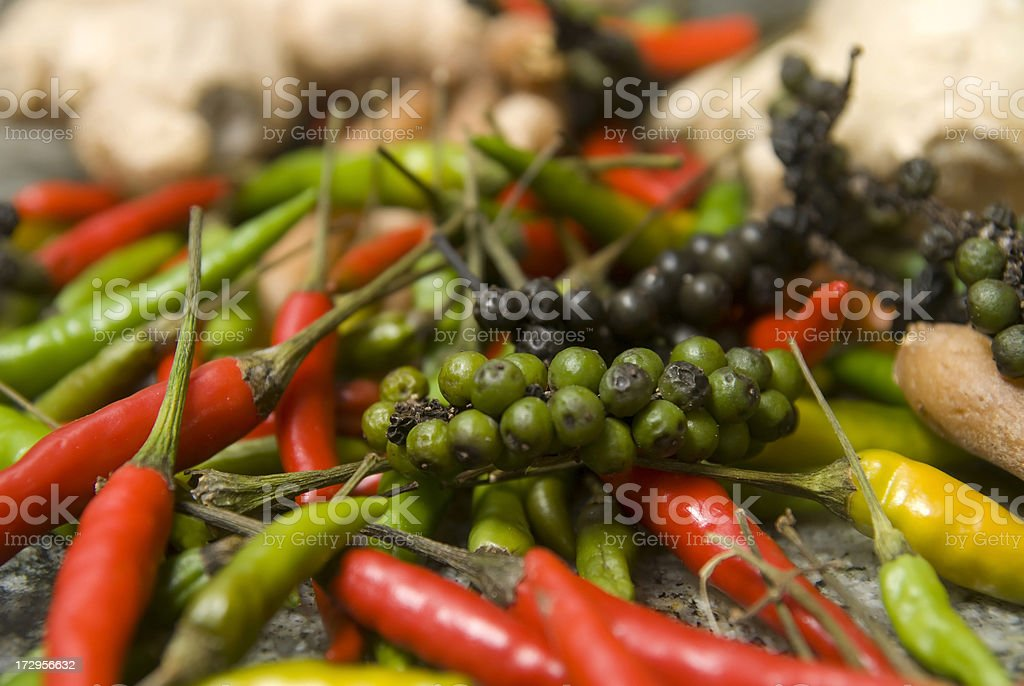 hot peppers and chilly royalty-free stock photo