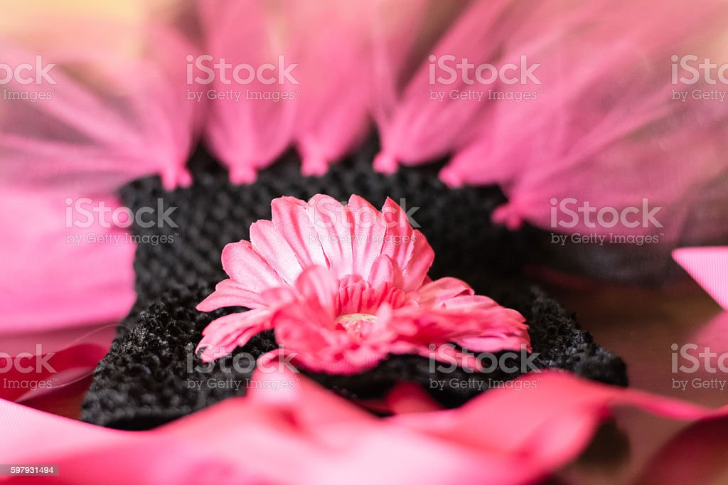 Hot Pink and Black Toddler's SunDress stock photo