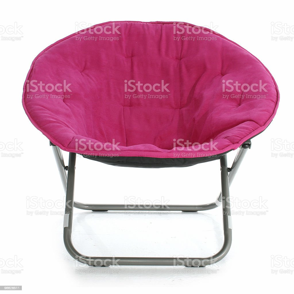 Hot Pink Chair Over White royalty-free stock photo