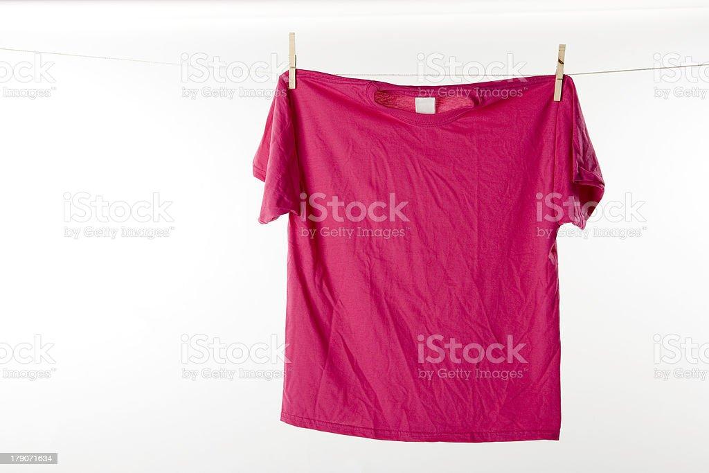 Hot Pink Tshirt royalty-free stock photo