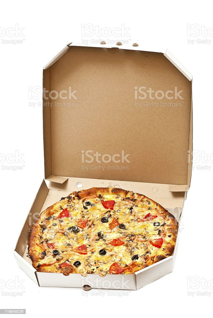 Hot pizza royalty-free stock photo