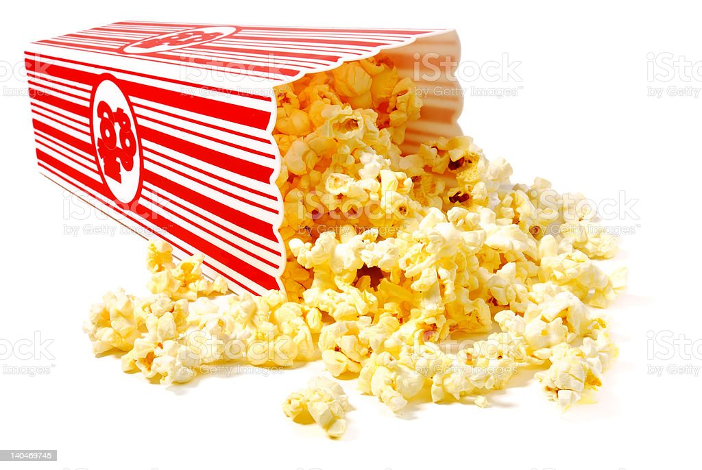 Hot Popcorn stock photo