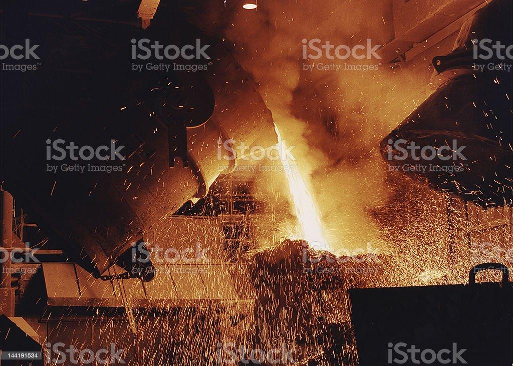 Hot pour stock photo