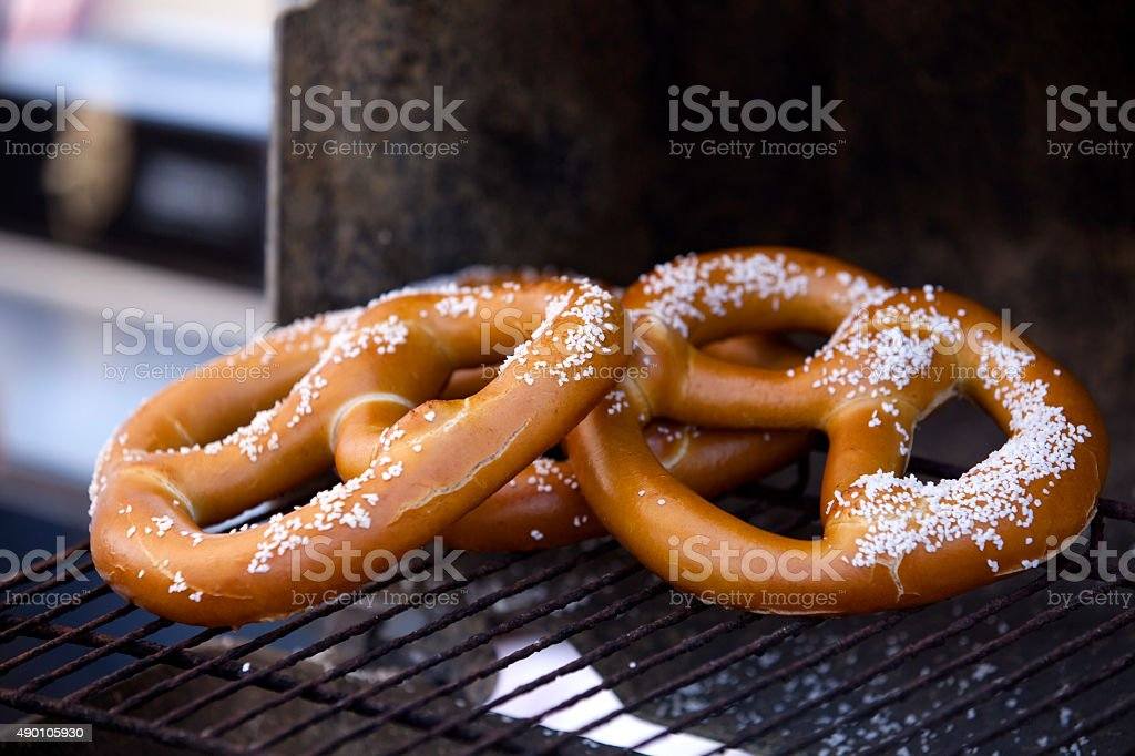 Hot Pretzels stock photo