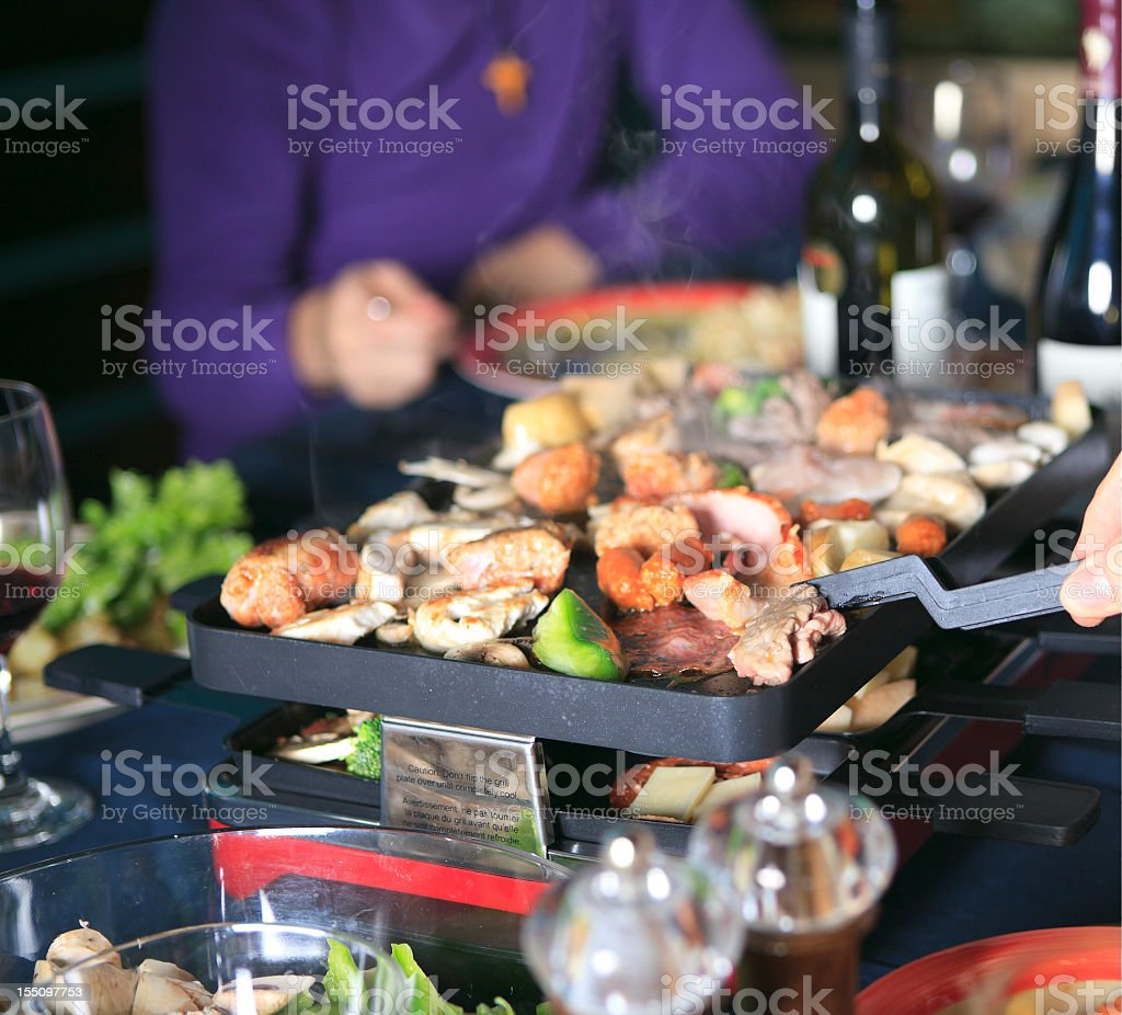 Hot Raclette Swiss Culture stock photo