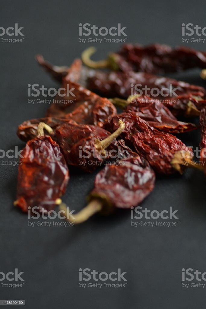 hot red chilies stock photo