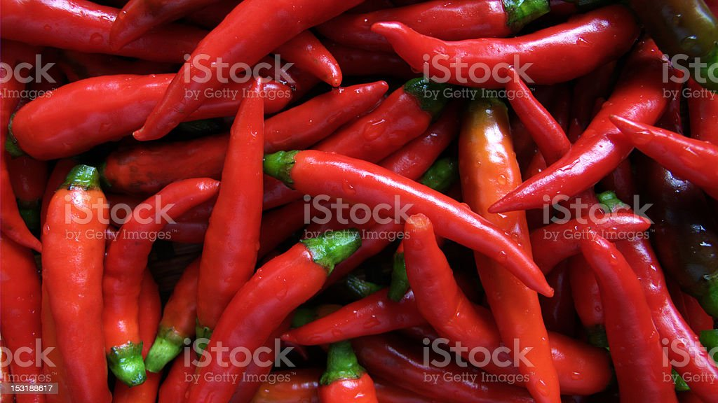 Hot red chillies royalty-free stock photo