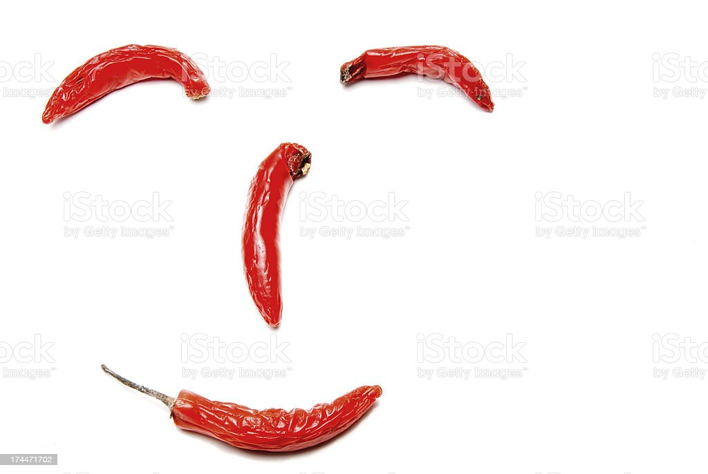 Hot Red Peppers royalty-free stock photo