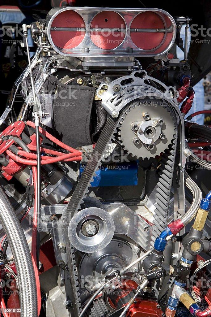 Hot Rod Engine royalty-free stock photo