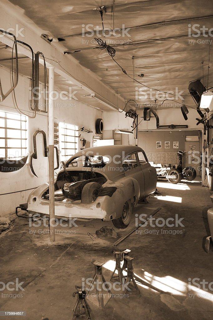 Hot Rod Shop royalty-free stock photo