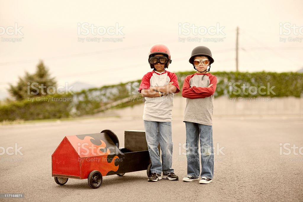 Hot Rodders royalty-free stock photo