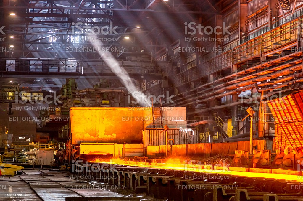 Hot rolled steel, industrial plant, Russia royalty-free stock photo