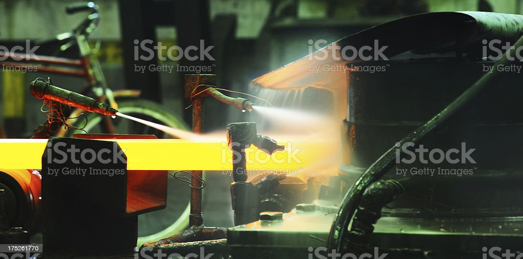 Hot rolling mill stock photo