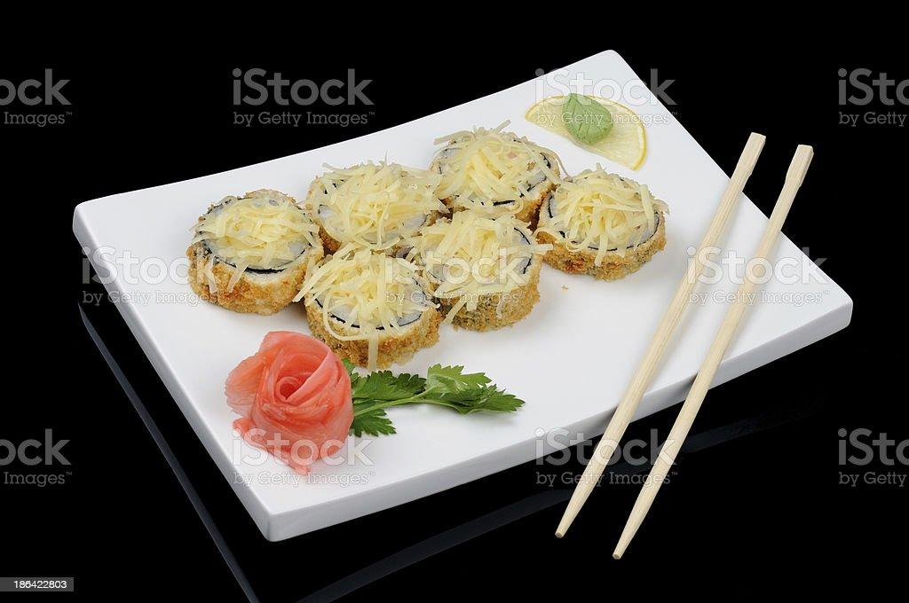 Hot rolls with cheese royalty-free stock photo