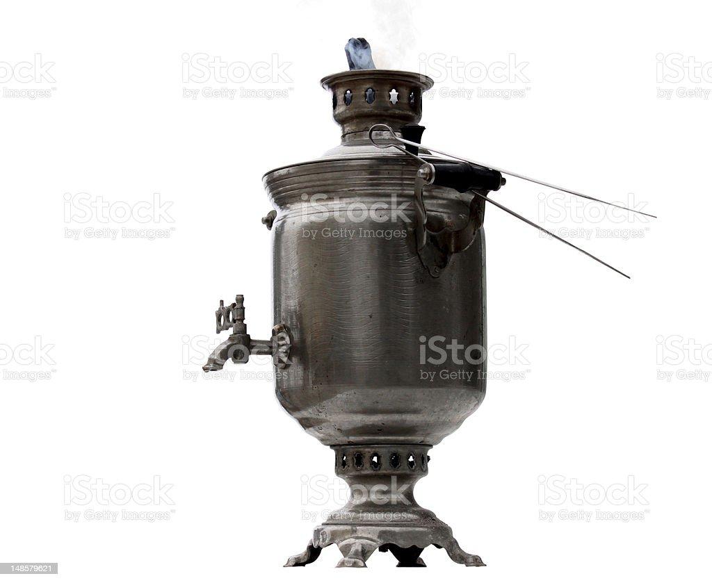 hot russian samovar royalty-free stock photo