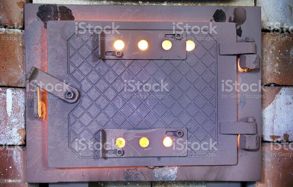 Hot rusty wood burner royalty-free stock photo