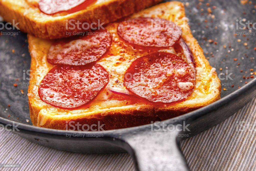 Hot sandwiches closeup royalty-free stock photo
